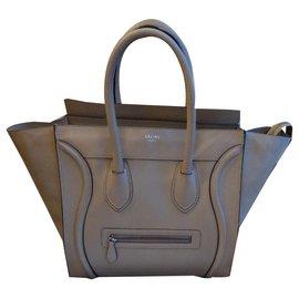 Céline-Céline Luggage Mini-Beige