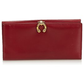 Gucci-Gucci Red Leather Wallet-Red