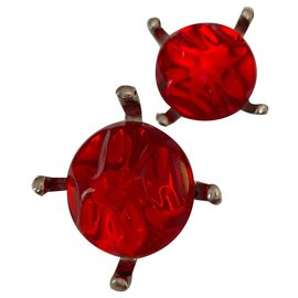 Yves Saint Laurent-Boucles d'oreilles Yves Saint Laurent-Rouge