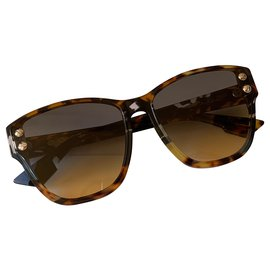 Dior-dior lunettes de soleil addict3 toxicomane 3 Tout neuf-Marron,Bleu