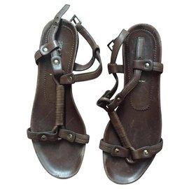 Prada-Prada sandals-Brown
