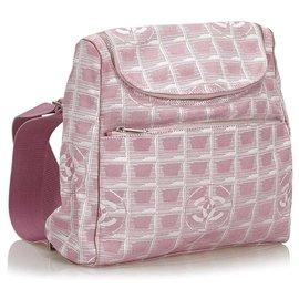Chanel-Sac à dos convertible rose Nouvelle Travel Line de Chanel-Rose,Blanc