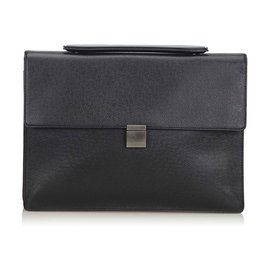 Louis Vuitton-Louis Vuitton Black Taiga Porte-Document Angara Briefcase-Black