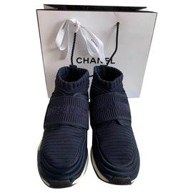 Chanel-sneakers-Bleu Marine
