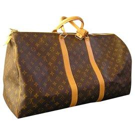 Louis Vuitton-Keepall 55 monogramme brown-Marron foncé