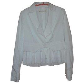Ermanno Scervino-Veste en coton blanc-Blanc