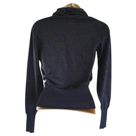 Chloé-Merino Wool Jumper-Navy blue