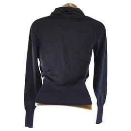 Chloé-Pull en laine mérinos-Bleu Marine