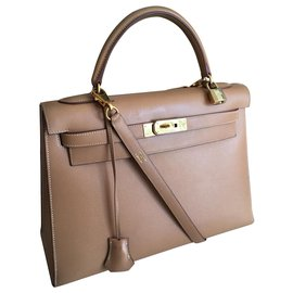 Hermès-Hermes Kelly bag 32 gold-Caramel