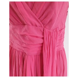 Temperley London-Coral Pink silk dress-Pink