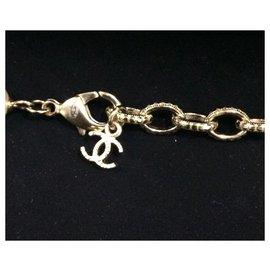 Chanel-Chanel short choker necklace-Beige