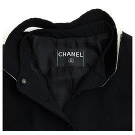 Chanel-BLACK WHITE FR38/40-Black,Cream