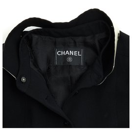 Chanel-BLACK WHITE FR38/40-Noir,Écru