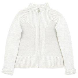 Hermès-GRAY WOOL CASHMERE cardigan FR38 BY MARGIELA-Grey