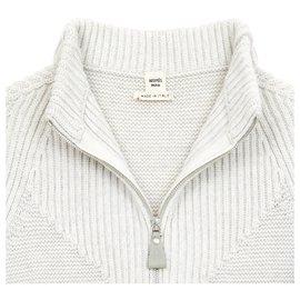 Hermès-GREY WOOL CASHMERE FR38 BY MARGIELA-Gris