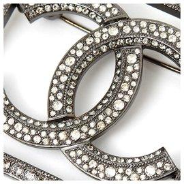 Chanel-SHADOW RHINESTONE CC-Silvery