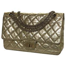 Chanel-2.55 Reissue 227 Shoulder Flap Bag-Golden,Metallic