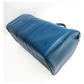 Louis Vuitton-Louis Vuitton Blue Epi Keepall 45-Bleu
