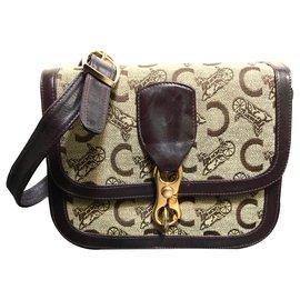 Céline-Handbags-Beige,Dark brown