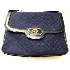 Gucci-sac monogramm-Bleu Marine