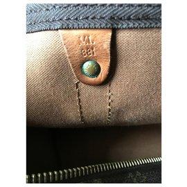 Louis Vuitton-Keepall 50-Marron clair,Marron foncé