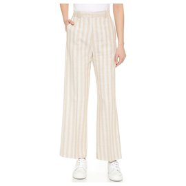 Acne-Pantalons, leggings-Beige
