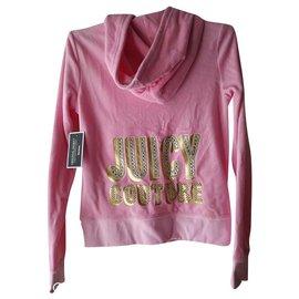 Juicy Couture-juicy couture veste originale en velours doux logo hush-Rose