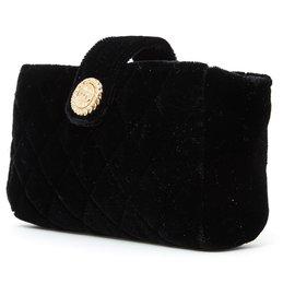 Chanel-TIMELESS CLASSIC MINI VELVET-Black