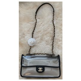 Chanel-Chanel Runway Coco Sand Single Flap PVC Bag-Black