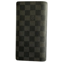 Louis Vuitton-LONG PORTFOLIO-Black,Grey