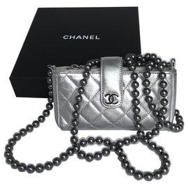 Chanel-Rare Mini Bag w/Chanel box-Silvery,Metallic