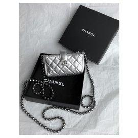Chanel-Rare Mini Bag avec boite Chanel-Argenté,Métallisé