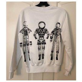 Chanel-Sweat en coton blanc des astronautes de l'espace de piste 34-Blanc