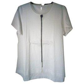 Dorothée Schumacher-T-shirtcotton white lined with silk-White