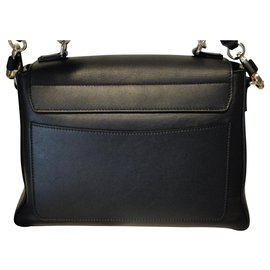 Chloé-Faye bag small lined worn-Black