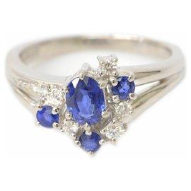 Tasaki-Tasaki Sapphire Diamond Ring-Blue