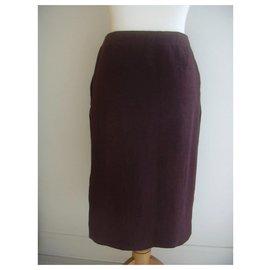 Hermès-Skirts-Dark red