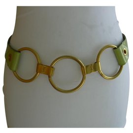Yves Saint Laurent-ceinture-Vert clair