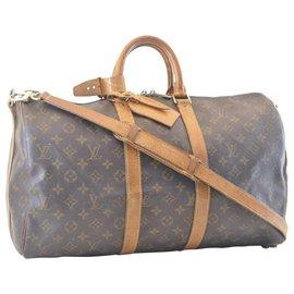 Louis Vuitton-Louis Vuitton Keepall Bandouliere 45-Marron