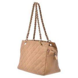 Chanel-Chanel Matelasse Tote Bag-Beige