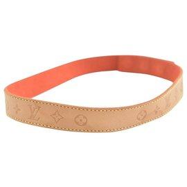 Louis Vuitton-Louis Vuitton Leather Bracelet-Brown