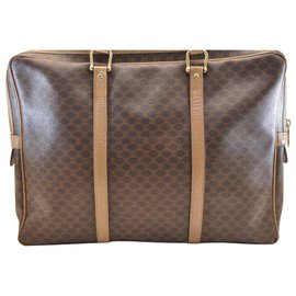 Céline-Céline Macadam Briefcase-Brown