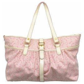 Céline-Céline Macadam Tote Bag-Pink