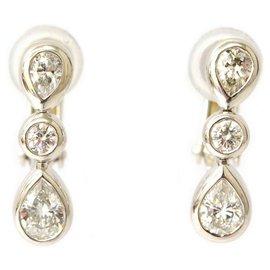 Autre Marque-TIFFANY & CO. Drop Diamond Earrings-Autre