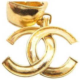 Chanel-Chanel Clip-on Vintage CC-Doré