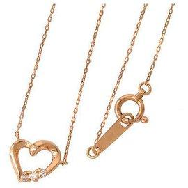 Autre Marque-4°C Diamond Heart Chain-Golden
