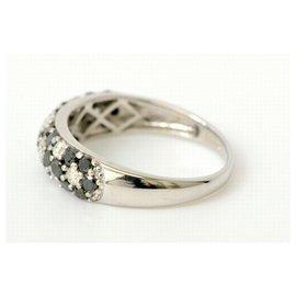 bague or blanc diamant noir pas cher