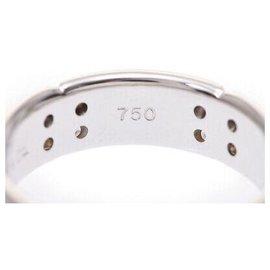 Autre Marque-Tiffany & Co. White Gold Diamond Ring-Silvery
