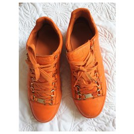 Balenciaga-Orange Arena Trainers-Orange