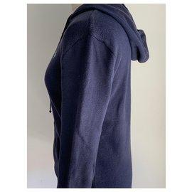 Ralph Lauren-Gilet en coton T38 marine en bon état-Bleu foncé